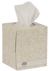 Tork Premium 2-Ply Facial Tissue Cube Boxes. 8 X 8 in. White. 36 boxes.