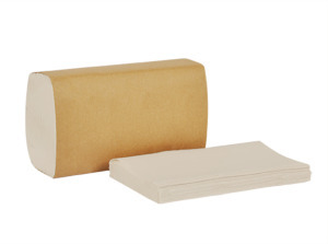 Picture of item 873-504 a Tork Universal Singlefold Towels. 10.3 X 9.1 in. Natural White. 4000 count.