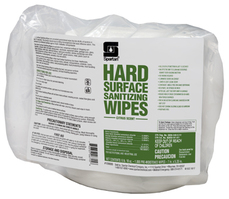 Hard Surface Sanitizing Wipes. Citrus scent. 225 Wipes/Pack 6 Packs/Case.