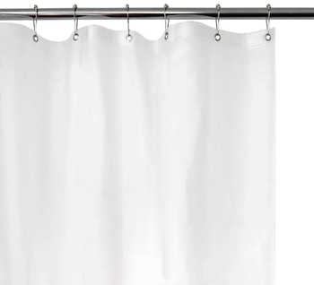 Picture of item 963-189 a Medium Weight Shower Curtain Liner in White 70x71