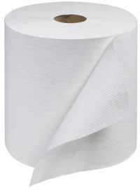 "Picture of item 875-510 a Tork Universal (Core) Hand Roll Towels. 7.9""x800' Embossed White 1-Ply"