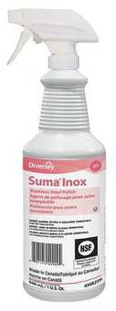 Picture of item DVO-94368259 a Diversey Suma Inox D7 Stainless Steel Cleaner. 32 oz. 6 count.