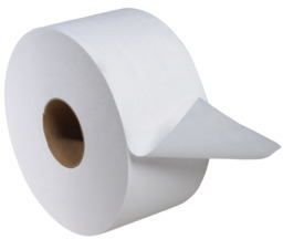 Picture of item 964-764 a Tork Advanced 2-Ply Mini Jumbo Bath Tissue. 3.6 in. X 751 ft. White. 12 count.