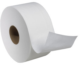 Picture of item 887-636 a Tork Advanced 2-ply Soft Mini Jumbo Bath Tissue Roll. 750.71 ft X 3.6 in. 12 count.