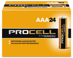 Picture of item 967-613 a Duracell® Procell® Alkaline Batteries, AAA, 24/Box