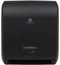 "Picture of item 892-301 a GP PRO enMotion® 10"" Automated Touchless Paper Towel Dispenser, Black  1 Each , Dispenser (WxDxH) 14.700"" x 9.500"" x 17.300"""
