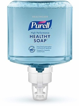 Picture of item GOJ-7785 a PURELL® Healthcare CRT HEALTHY SOAP™ High Performance Foam Soap for ES8 Dispensers. 1200 mL. 2 Refills/Case.