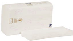 Picture of item 964-796 a Tork Premium Extra Soft Xpress® 2-Ply 4-Panel Multifold Hand Towels. 3.4 X 8.4 in. White. 2100 count.