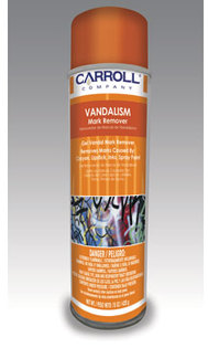 Picture of item 601-303 a Vandalism Mark Remover.  Removes paint, ink, crayon, lipstick.  16 oz. Aerosol.