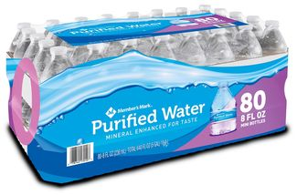 Picture of item 963-168 a Member's Mark Purified Water. 8 oz. 80 Bottles/Pack