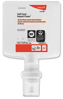 Picture of item DVO-100907873 a Soft Care® Impact Foam Hand Sanitizer. 1200 ml. Clear. 6 count.