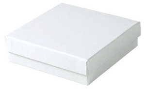 Picture of item 971-400 a Jewelry Boxes. 3.5 X 3.5 X 1 in. White Krome. 100 count.