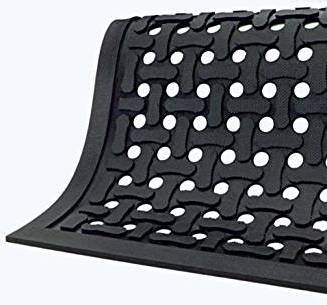 Picture of item 972-697 a Comfort Flow Slip Resistant Anti-Fatigue Commercial Drainage Mat. 3 X 5 ft. Black.