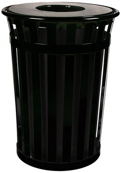 Picture of item 963-594 a Oakley Standard 36Gal Outdoor Receptacle Flat Top Plastic Liner Black