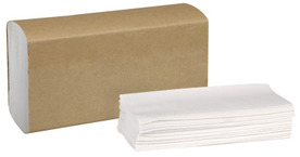 Picture of item 872-508 a Tork Universal Multifold Hand Towel. 9.1 X 3.2 in. White. 250 Towels/Sleeve, 4000 Towels/Case.
