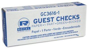 Picture of item 974-179 a GUEST CHECK 1 PT GREEN 16 LINE. 50 BOOKS OF 100 CHECKS PER CASE.
