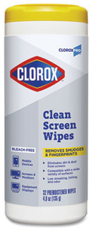 CloroxPro Clean Screen Bleach-Free Wipes, 7 1/2 X 7 in. 6 count.
