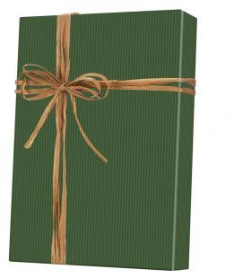 Dark Green/Kraft Gift Wrap. 24 in X 417 ft.