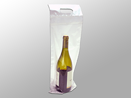 Picture of item 964-876 a Wine Bottle To-Go Bags. 2.5 mil. 7 X 19 in. 250 count.