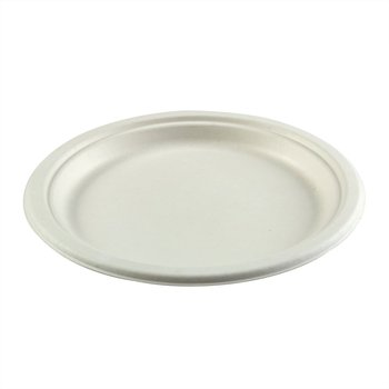 Picture of item 964-933 a Round Molded Fiber Plates. 9 in. White. 500 count.