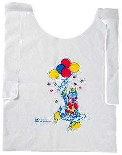 Picture of item 964-903 a Child's Poly Bibs with Clown Design. 2500 count.