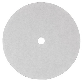 Picture of item 964-914 a Grease Filter Paper Disc. 18-3/8 in with 1-5/8 in hole. 100 count.