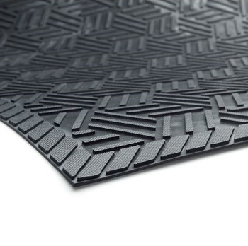 Picture of item 963-662 a Superscrape Plus Entrance/Scraper Indoor/Outdoor Floor Mat without Holes. 4 X 6 ft. Black.