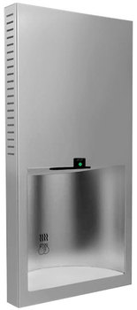 Bobrick B-3725 115 Volt TrimLine Series No Touch Recessed Stainless Steel Hand Dryer.