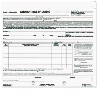 "Picture of item RED-44301 a Rediform® Bill of Lading Short Form, 7"" x 8-1/2"", Three-Part Carbonless, 250 Forms"
