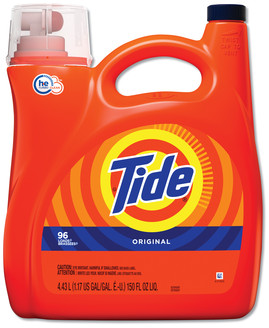 Picture of item PGC-23068 a Tide® HE Laundry Detergent, Original Scent, 150 oz Pump Bottle, 4/Carton