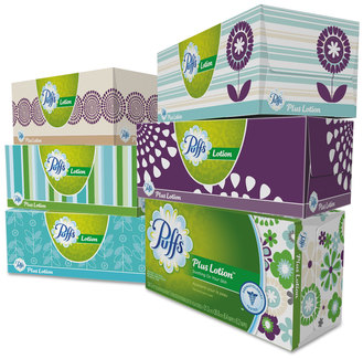 Puffs® Plus Lotion Facial Tissue, White, 2-Ply, 8 1/5x8 2/5, 124/box, 6bx/pk, 4pk/Case