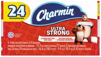 Picture of item PGC-99016 a Charmin® Ultra Strong Bathroom Tissue, 2-Ply, 4 X 3.92, 71 Sheets/roll, 24 Rolls/Pack