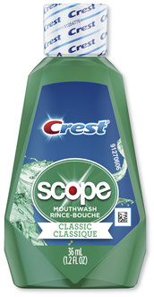 Crest® + Scope Rinse, Classic Mint, 36 mL Bottle, 180/Case.