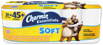 Picture of item PGC-96609 a Charmin® Essentials Soft Bathroom Tissue, 2-Ply, 4 X 3.92, 200/roll, 20 Roll/Pack