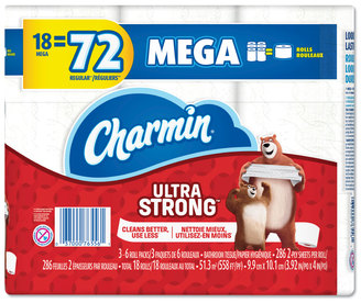 Picture of item PGC-76556 a Charmin® Ultra Strong Bathroom Tissue, 2-Ply, 286 Sheet/Roll, 18/Pack