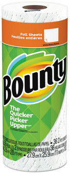 "Bounty® Paper Towels, 2-Ply, White, 10.2"" x 11"", 36 Sheets/Roll, 30 Rolls/Case."