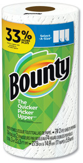 "Bounty® Select-a-Size Paper Towels, 2-Ply, 11"" x 5.9"", 74 Wipes/Pack, 24 Packs/Case"