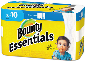 Picture of item PGC-75721 a Bounty® ssentials Select-A-Size Paper Towels, 2-Ply, 78 Sheets/Roll, 8 Rolls/Case