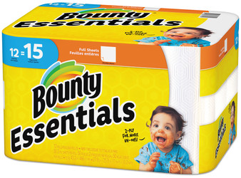 Picture of item PGC-75719 a Bounty® Essentials Paper Towels, 50 Sheets/Roll, 12 Rolls/Case.