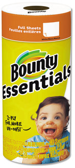 "Bounty Essentials 2-Ply Paper Towels, 10.2"" x 11"" Towel, 40 Towels/Roll, 30 Rolls/Carton"