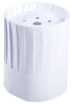 Picture of item RPP-RCH9 a Royal Pleated Adjustable Paper Chef's Hats. 9 in. Tall. White. 24 count.
