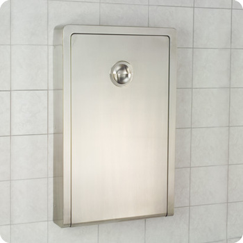 Picture of item 963-683 a Koala Kare Vertical Wall-Mounted Baby Changing Station. 22 X 35½ in. Stainless Steel.