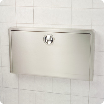Picture of item 963-682 a Koala Kare Horizontal Wall-Mounted Baby Changing Station. 35¼ X 20 in. Stainless Steel.