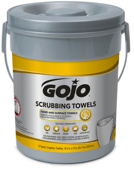 Picture of item 670-776 a GOJO® Scrubbing Towels. 10.5 X 12 in. 6 canisters.