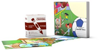 Picture of item 964-962 a Crayon-Placemat Combo Kit. 125 sets (4 pack crayons & 4 design placemats).  100 CASE MINIMUM ORDER NOW REQUIRED TO PURCHASE.