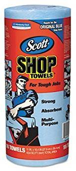 Picture of item 963-689 a Scott Shop Towels. 11 X 10.4 in. Blue.