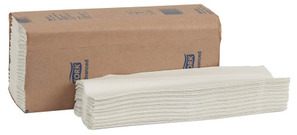 Picture of item 869-527 a Tork Advanced C-Fold Hand Towels. 10.125 X 3.65 in. White. 2400 count.