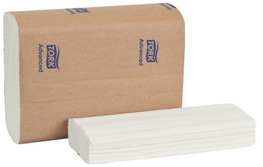 Picture of item 872-517 a Tork Advanced 3-Panel Multifold Hand Towels. 8 X 3.2 in. White. 3000 count.