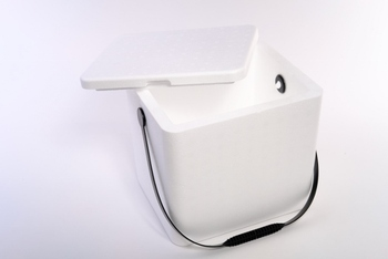 Foam Cooler with Plastic Handle. 12 qt. 11-3/4 X 9-3/4 X 10-3/4 in. 12 count.