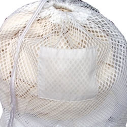 Picture of item 963-695 a Mesh Net Draw String Laundry Bag. 18 X 24 in. White.